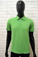 Polo BENETTON Uomo Taglia M Maglia Maglietta Camicia Shirt Man Cotone Verde Slim