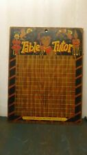 Rare Vintage Multiplication Board Table Tutor Hollywood Specialty Co.