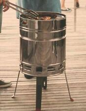 BBQ Barrel Fire Pit Garden Portable Barbecue Charcoal Patio Stainless Stove
