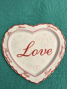 "AVON Ceramic Valentine ""LOVE"" Heart Wall Hanging Plaque/Candle Holder"