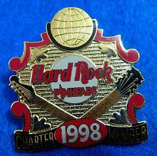 PINHEADS PRE HRCPCC REWARDS ERA CHARTER MEMBER 1998 GUITARS Hard Rock Cafe PIN