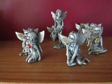 9 Pewter Various Birthstone Fairy Figurines - Leonardo Collection Lot