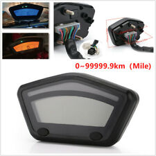 Motorcycle Scooter LCD Digital Gauge Speedometer Tachometer 0~99999.9km Odometer