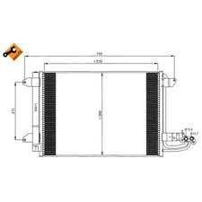 Kondensator Klimaanlage - NRF 35520