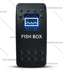 Labeled Contura II Rocker Switch COVER ONLY, Fish Box (Blue Window)