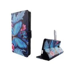 Cubierta Protectora de Teléfono Móvil Wiko Robby Mariposa Azul Bolsa Panzer