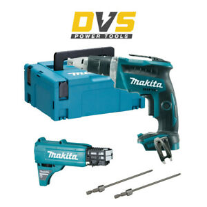 Makita DFS452Z 18V Brushless Drywall Screwdriver w/ Autofeed Attachment & Case