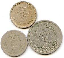 Chile lot of (3) Vintage coins  lotfeb2982
