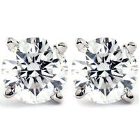 1 CT. T.W. Genuine White Diamond Studs 14K White or Yellow Gold