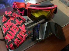 Smith Ski Goggles w 2 Lenses (Black and Yellow) and Storage Bag