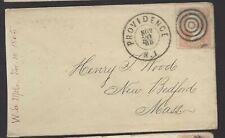 1865 Civil War Era Providence RI Cover to New Bedford Mass