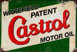"""Retro Blechschild Vintage Nostalgie look 20x30cm """"Castrol"""" neu"""