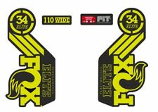 Fox Elite Fork / Suspension Factory Style Decal Sticker Adhesive Set Lime Green