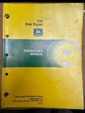 John Deere 510 Disk Ripper Operator Manual Omn200644 L8 W 3