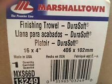 Marshalltown MXS66D Cement Finishing Trowel 16 x 4 Curved Durasoft Handle 13249