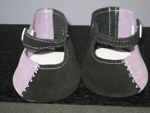 ****CABBAGE PATCH OR MY CHILD SHOES****Black and Mauve.****