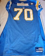 San Diego Chargers Vaughn Parker Authentic Pro Cut Adidas NFL Jersey 40th Patch