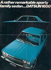 Datsun Nissan 1600 Bluebird Saloon 1970-71 UK & Export Markets Foldout Brochure