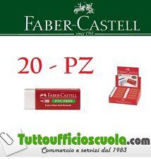 Bianco Scatola Di 20 Faber-Castell Antipolvere Comfort Bordo Gomma Gomme