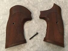 Vintage Herrett Checkered Target Grips For Smith & Wesson N Frame Revolvers S&W