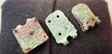 Nice Trio of Roman copper alloy stapend/buckle plate fittings L67v