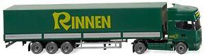WIKING 051804 Échelle H0 Pritschensattelzug (Scania R 420 Topline) Rinnen Ho 1 :