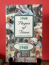 1940 Pages of Time Booklet great gift for birthdays,  anniversary