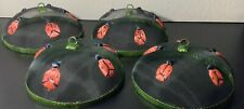 Vintage Wire Mesh Food Cover Dome Lady Bugs  Collectible Lot Of 4