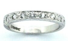 Ladies Womens, 9carat 9ct White Gold Half Eternity Ring With CZ Stones Size  O