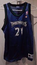 VINTAGE CHAMPION YOUTH TIMBERWOLVES GARNETT  21 NBA BASKETBALL JERSEY XL  BLUE e3a44609f