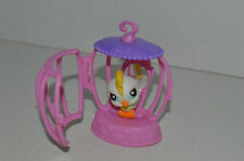Littlest Pet Shop~#59~Cockatoo White Yellow~Pink & Purple Bird Cage With Mirror
