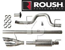 2010-14 F-150 Raptor Roush Cat-back Side Exit Exhaust System Kit w/ Chrome Tips