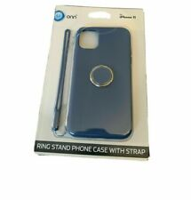 Onn iPhone 11 Ring stand Phone Case With Strap! (Blue)