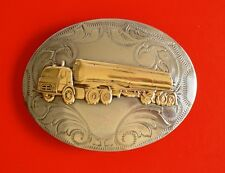 Vintage Tanker Truck Nickel Silver Belt Buckle