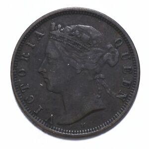 1882, Mauritius, 2 Cents, Victoria, Bronze, gF, KM# 8, Lot [2152]