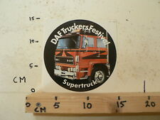 STICKER,DECAL DAF TRUCKERS FESTIVAL 2500 TURBO SUPERTRUCK A