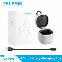 TELESIN 3 Slot Multifunction Battery Charger Dock Charging Box For Gopro 7/6/5