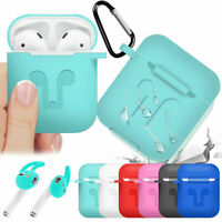 Silicone Anti-dust Ruggged Case + Earbuds For Apple AirPods 2nd Gen Accessories