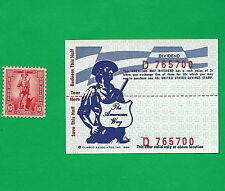 WAR Savings Stamp & 2c SCRIP REDEEMABLE FOR A 10 SAVING STAMP