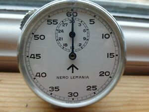 Nero Lemania Military Stop Watch, good working condition