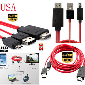 MHL USB HDMI AV Cable Adapter Lead Cord Connect Samsung Galaxy Tablet