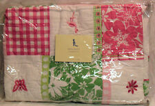 Pottery Barn Kids Kelly Quilt Tropical Baby Flamingo Dragonfly Butterfly NEW