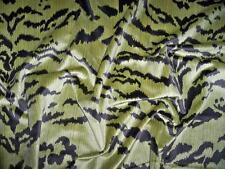 EXCLUSIVE TIGER TIGRE VELVET FABRIC 5 YARDS GREEN & BLACK
