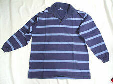Cyrillus purple striped rugby top, height 176cm