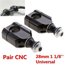 "Black CNC Aluminum 1 1/8"" 28mm Motorcycle HandleBar Handle Bar Mount Clamp Riser"