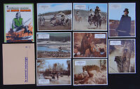 LE CONVOI SAUVAGE set 8 lobby card photo 1971 film WESTERN Harris