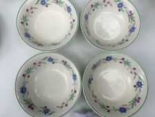 4 AVA by ONEIDA Cereal or Fruit Bowls  Blue &  Purple Flowers