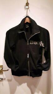 Bench Women's cotton casual sports jacket size 10/12 black IGC