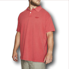 Replika Jeans Washed Polo Shirt/Red - 4XL  SRP £39.95