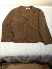 St710 Erika Women's Patterned Brown Business Coat Large